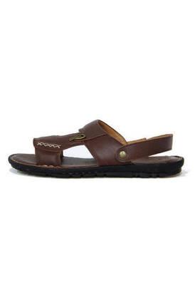 Deri Terlik Sandalet Hac Umre Sandaleti Kahverengi