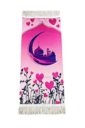 İhvan - Digital Print Lined Children's Prayer Rug - Pink