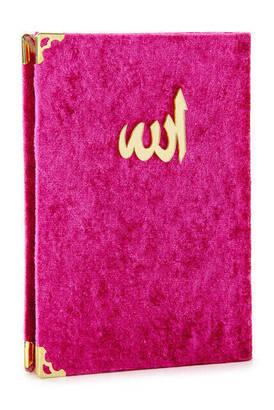 İhvan - 20 ADET - Ekonomik Kadife Kaplı Yasin Kitabı - Çanta Boy - Fuşya Renk - Dini Hediyelik