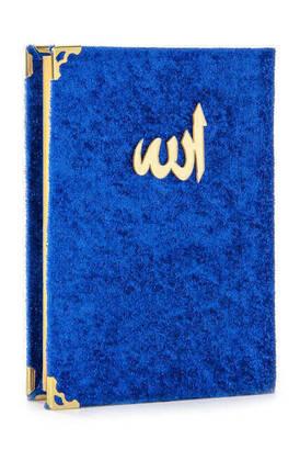 İhvan - 20 ADET - Ekonomik Kadife Kaplı Yasin Kitabı - Çanta Boy - Lacivert Renk - Dini Hediyelik