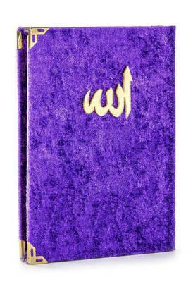 İhvan - 10 ADET - Ekonomik Kadife Kaplı Yasin Kitabı - Çanta Boy - Mor Renk - Dini Hediyelik