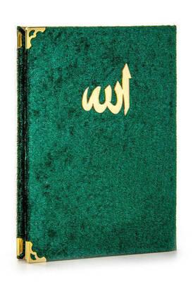 İhvan - 10 ADET - Ekonomik Kadife Kaplı Yasin Kitabı - Çanta Boy - Yeşil Renk - Dini Hediyelik