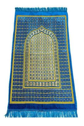 İhvan - Ekonomik Kadife Şipinger Seccade - 0190 - Mavi Renk