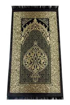 İhvan - Ekonomik Osmanlı Desen Tafta Seccade Siyah