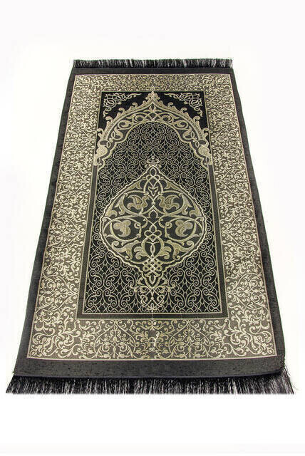 Ekonomik Osmanlı Tafta Seccade - 0150 - Siyah