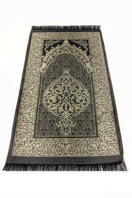 İhvan - Ekonomik Osmanlı Tafta Seccade - 0150 - Siyah