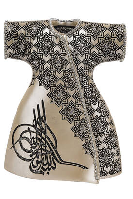 İhvan - Elegant Caftan with Ottoman Tugra and Crystal Stone Religious Gift Trinket Mother of Pearl