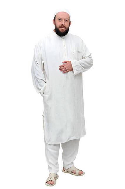 Erkek Keten Fistan Beyaz - 02-1150