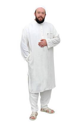 İhvan - Erkek Keten Fistan Beyaz - 02-1150