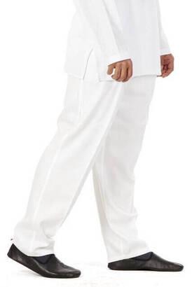İhvan - Erkek Keten Şalvar Beyaz Renk - Hac Umre Pantolonu