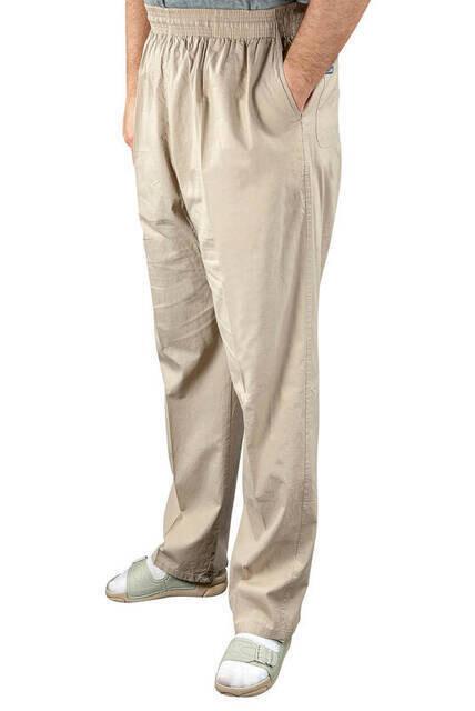 Erkek Keten Şalvar Krem Rengi - Hac Umre Pantolonu -1158