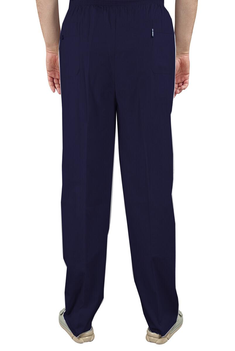 Erkek Keten Şalvar Lacivert Renk - Hac Umre Pantolonu