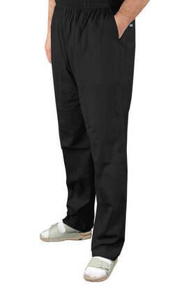 İhvan - Erkek Keten Şalvar Siyah Renk - Hac Umre Pantolonu