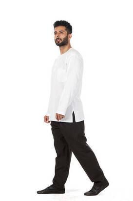 Erkek Keten Şalvar Siyah Renk - Hac Umre Pantolonu
