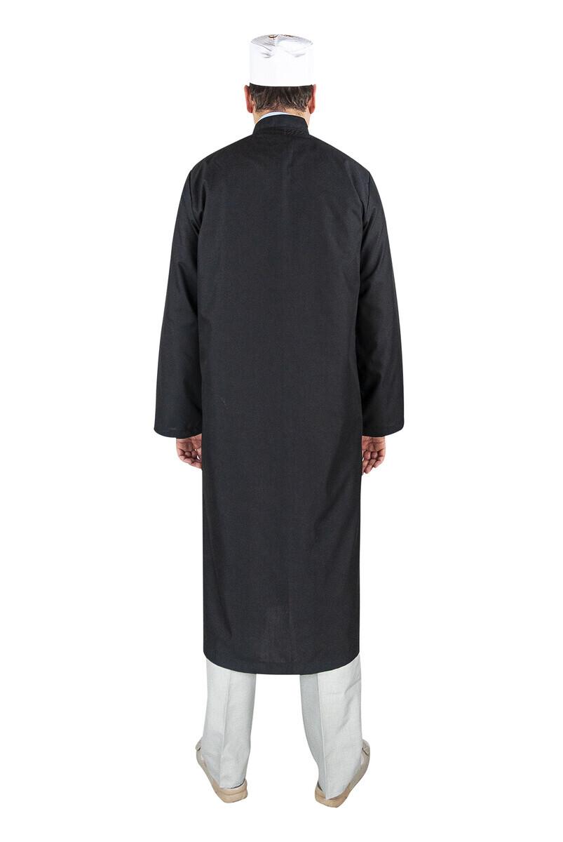 Erkek Namaz Cübbesi Namaz Kıyafeti Sİyah