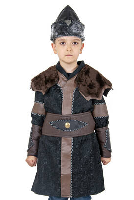 İhvan - Ertuğrul Kostüm - Çocuk Alp Kıyafeti Kahverengi