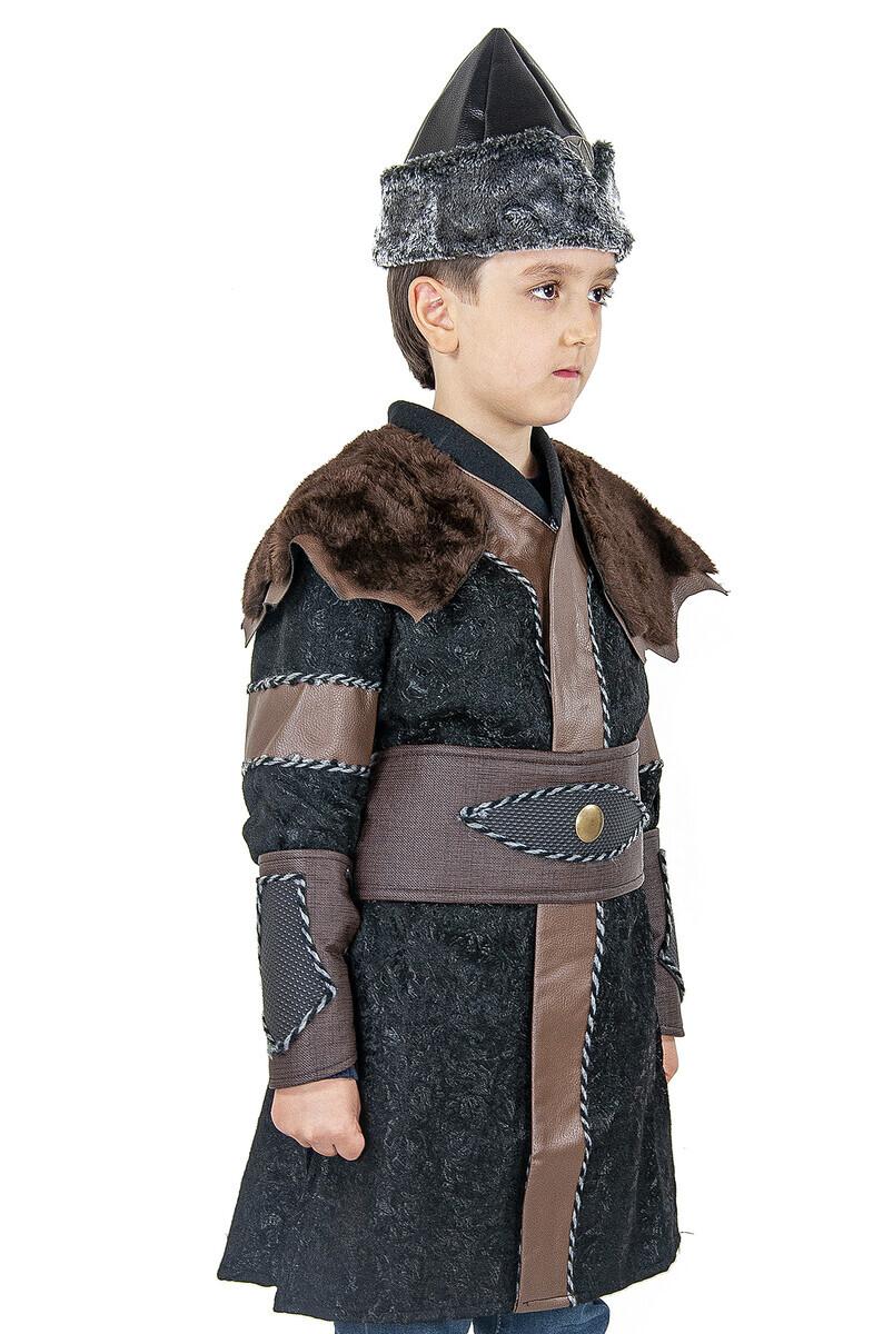 Ertuğrul Kostüm - Çocuk Alp Kıyafeti Kahverengi