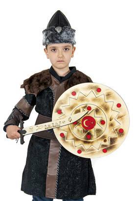 İhvan - Ertuğrul Kostüm Tam Set - Çocuk Alp Kıyafeti Kahverengi