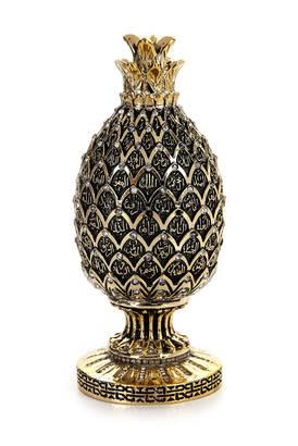 İhvan - Esmaül Hüsna İşlemeli Ananas Meyve Figürlü Dini Hediyelik Biblo Altın Renk
