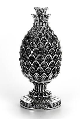İhvan - Esmaül Hüsna İşlemeli Ananas Meyve Figürlü Dini Hediyelik Biblo Gümüş Renk