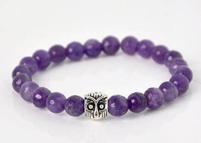 İhvan - Faceted Amethyst Stone Bracelet - Magenta