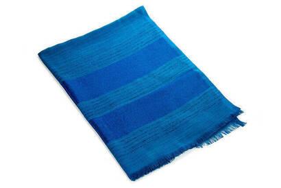 İhvan - Flamed Silvery Shawl - Blue