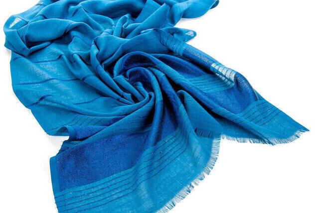 Flamed Silvery Shawl - Blue