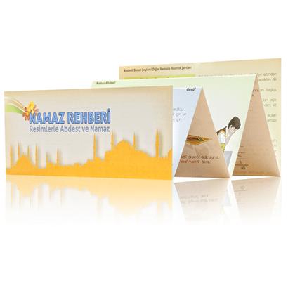 Hayrat Neşriyat - Foldable Prayer Guide- Religious Educational Book 1168