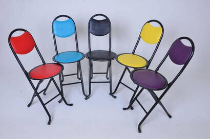 Foldable Prayer Stool - Backed Stool - Picnic Chair