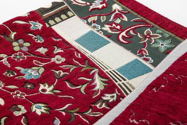 Fuşya Namaz Elbisesi - Ravza Motifli Seccade ve Tesbih - İbadet Seti
