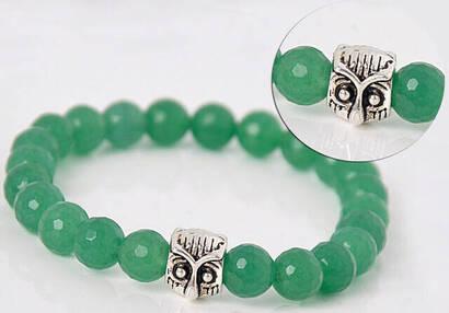 İhvan - Green Akik Stone Bracelet with Facet