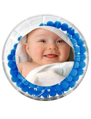 İhvan - Gül Kokulu Tesbih - Erkek Çocuğuna Özel - Resim Baskılı - Mavi Renk - Bebek Mevlidi Hediyeliği