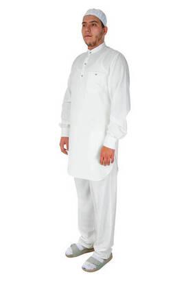 İhvan - Hac ve Umre Kıyafeti - Afgan Takımı - Beyaz