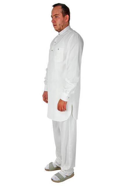 Hac ve Umre Kıyafeti - Afgan Takımı - Beyaz