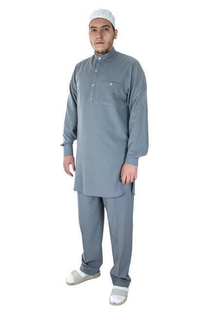 Hac ve Umre Kıyafeti - Afgan Takımı - Gri