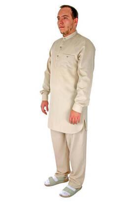 Hac ve Umre Kıyafeti - Afgan Takımı - Krem - 2416
