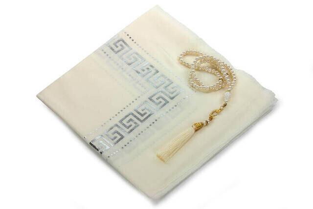 Hac Umre Mevlid Set 47 - Seccade - Shawl - Rosary - Boxed