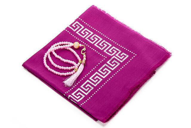 Hac Umre Mevlid Set 48 - Seccade - Shawl - Rosary - Boxed