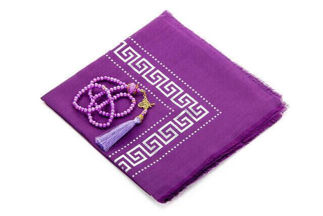 Hac Umre Mevlid Set 49 - Seccade - Shawl - Rosary - Boxed
