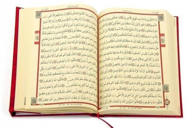 Hafiz Boy Rose Patterned ColorEd Koran Karim (Pink) - 9.1123