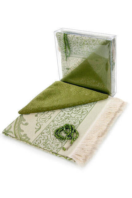 Hajj Umrah Mevlid Set 10 - Seccade - Cover - Rosary - Boxed