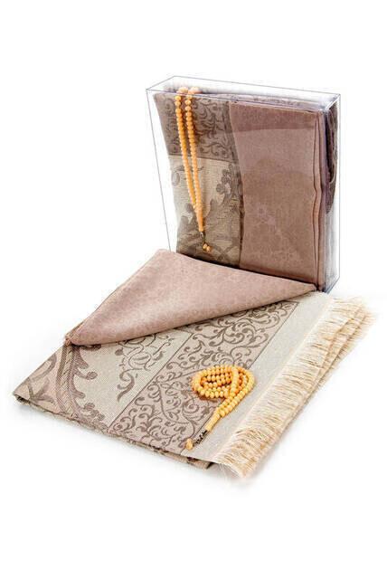 Hajj Umrah Mevlid Set 8 - Seccade - Cover - Rosary - Boxed