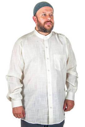 İhvan - Hakim Yaka Keten Açık Krem Gömlek