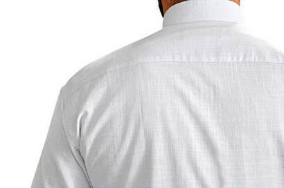 Hakim Yaka Keten Beyaz Gömlek -1153