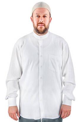 İhvan - Hakim Yaka Şile Bezi Gömlek Beyaz - 1142