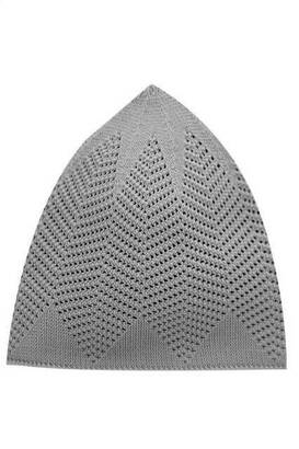 İhvan - Handmade Knitted Cap 12 Pieces - Gray-8114