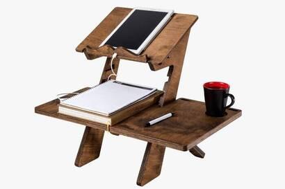 İhvan - Huş Ağacı Kuran ve Laptop Rahlesi