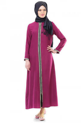 İhvan - İhvan 5009-4 Fermuarlı Fuşya Namaz Elbisesi
