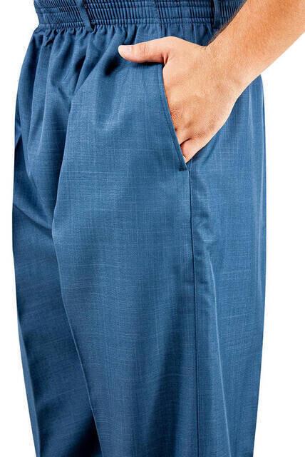 İhvan Kumaş Şalvar Pantolon Mevsimlik - Mavi