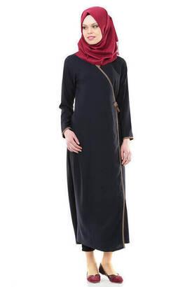 İhvan - İhvan 5006-2 Navy Blue Prayer Dress